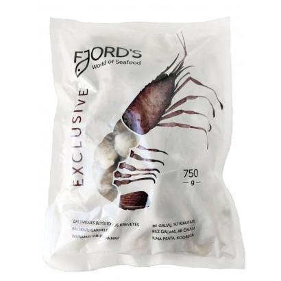 Šaldytos baltakojės blyškiosios krevetės FJORD'S