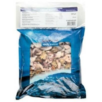 Šaldytas jūros gėrybių mišinys Marinara-mix, 5 ingredientai, virtas, 20 % glazūra, 1 kg